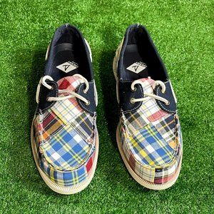 Sperry Plaid Nautical 2-Eyelet Boat Shoes 10.5 NEW